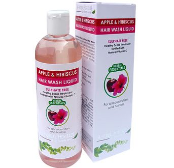 APPLE & HIBISCUS HAIR WASH LIQUID